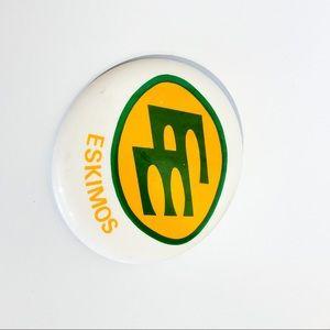 Large VINTAGE Edmonton Eskimos Pin
